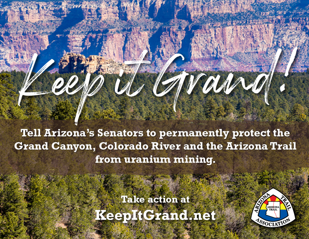Ask Arizona's Senators to Support the Grand Canyon Centennial Protection Act