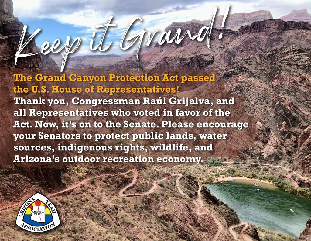 US House of Representatives Passes Grand Canyon Protection Act