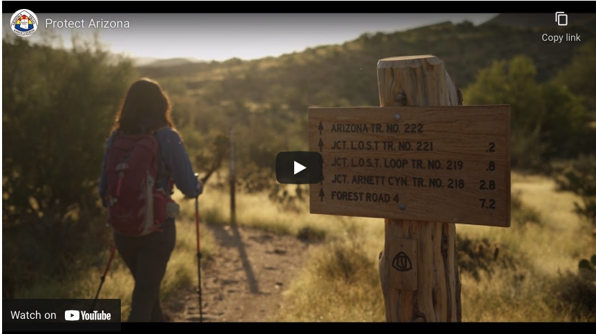 """Arizona Trail Association releases video essay calling on US Senators  to """"Protect Arizona"""" by fighting climate change"""